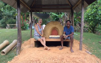 Building the Mud Oven